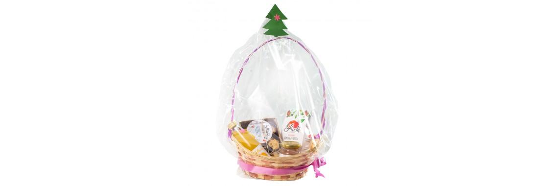 Подарочная Новогодняя корзина с 4 продуктами