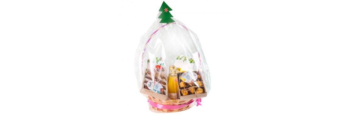 Подарочная Новогодняя корзина с 8 продуктами